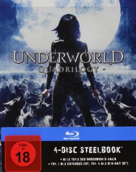 Underworld 1-4  (Steelbook, 4 Discs) [FSK 18] [Blu-ray]