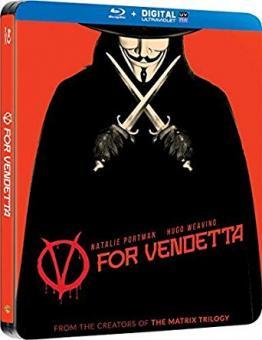 V wie Vendetta (Limited Steelbook) (2006) [UK Import mit dt. Ton] [Blu-ray]