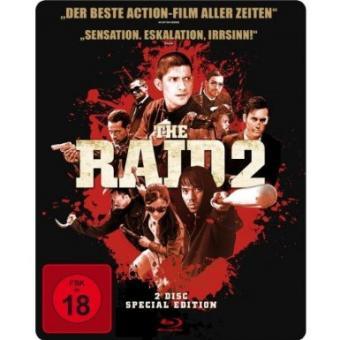 The Raid 2 - Ungeschnittene Fassung (2 Disc Special Edition, Steelbook) (2014) [FSK 18] [Blu-ray]