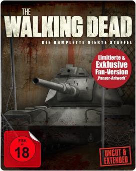 The Walking Dead - Die komplette vierte Staffel (Uncut, Extended Version, Steelbook) [FSK 18] [Blu-ray]