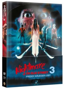 Nightmare on Elm Street - Teil 3 (Limited Wattiertes Mediabook, Blu-ray+DVD) (1987) [FSK 18] [Blu-ray]