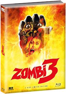 Zombie 3 (Limited Wattiertes Mediabook, Blu-ray+DVD) (1988) [FSK 18] [Blu-ray]