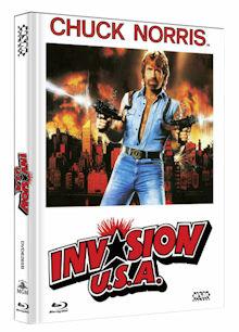 Invasion U.S.A. (Limited Mediabook, Blu-ray+DVD, Cover B) (1985) [FSK 18] [Blu-ray]