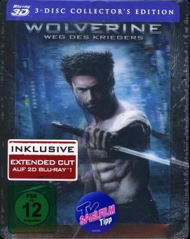 Wolverine: Weg des Kriegers (inkl. Extended Cut) (3 Disc Steelbook) (2013) [3D Blu-ray]
