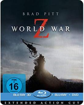 World War Z (Limited Steelbook, 3D Blu-ray+Blu-ray+DVD) (2013) [3D Blu-ray]