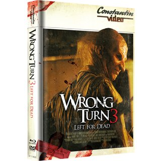 Wrong Turn 3 - Left for Dead (Limited Mediabook, Blu-ray+DVD, Retro Cover) (2009) [FSK 18] [Blu-ray]