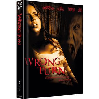 Wrong Turn (Limited Mediabook, Blu-ray+DVD, Original Cover) (2003) [Blu-ray]