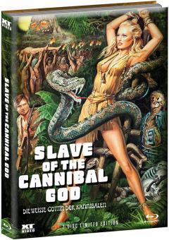 Die Weiße Göttin der Kannibalen (Limited Wattiertes Mediabook, Blu-ray+DVD, Cover B) (1977) [FSK 18] [Blu-ray]