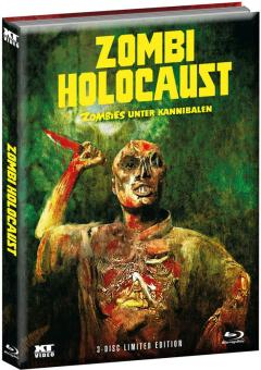 Zombies unter Kannibalen (Zombie Holocaust) (Limited Wattiertes Mediabook, Blu-ray+DVD, Cover A) (1979) [FSK 18] [Blu-ray]
