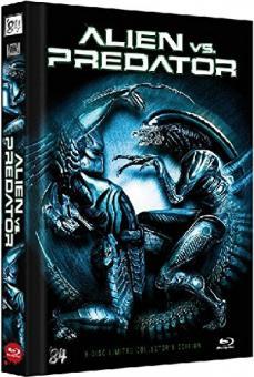 Alien vs. Predator (Limited 3 Disc Mediabook, 2 Blu-ray + DVD, Cover C) (2004) [Blu-ray]