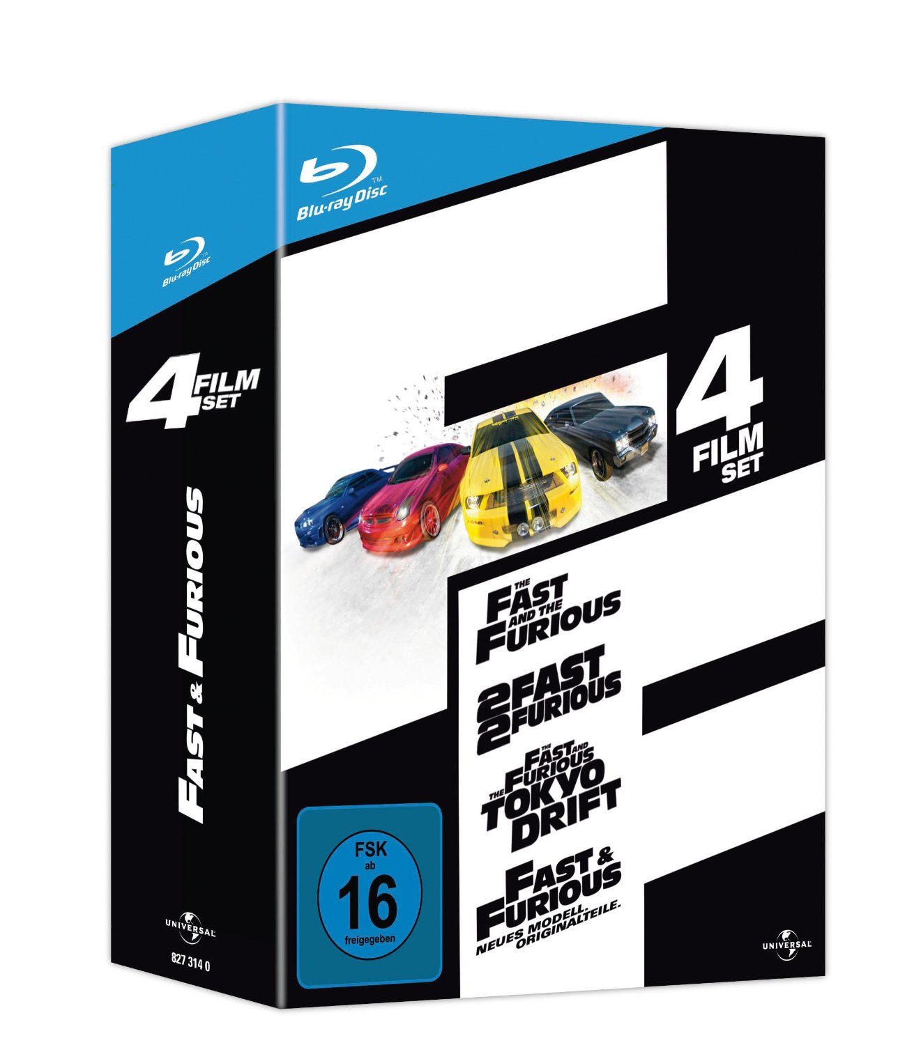 ihr uncut dvd shop fast and furious 1 4 4 discs blu. Black Bedroom Furniture Sets. Home Design Ideas